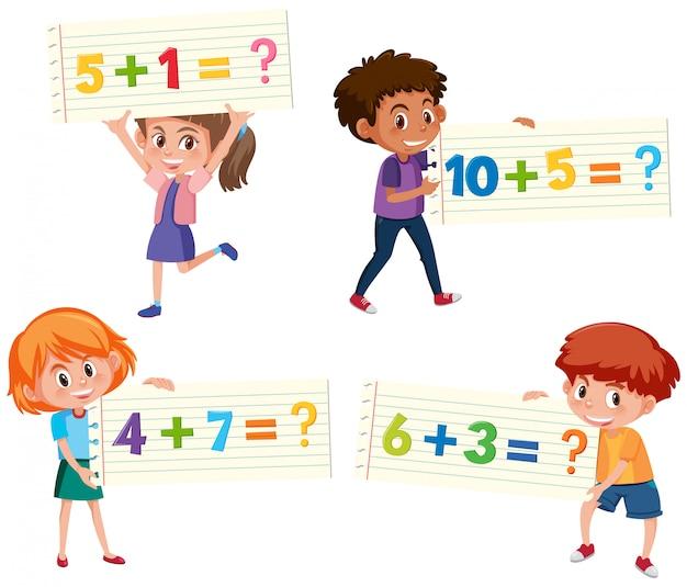 Conjunto de cartão adicional de matemática
