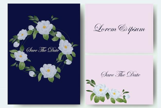 Conjunto de cartão de casamento