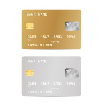 Conjunto de cartão de crédito do banco realistick