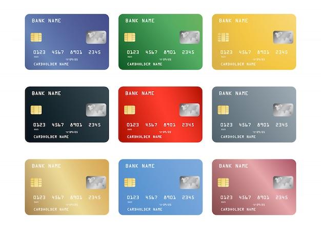 Conjunto de cartão de crédito