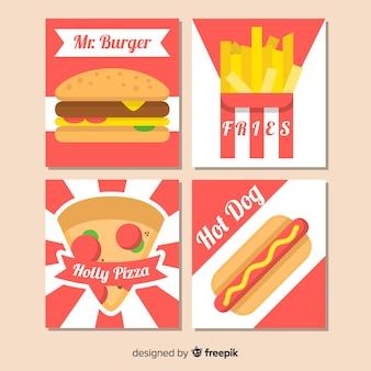 Conjunto de cartão de fast food