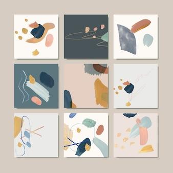Conjunto de cartão de fundo abstrato