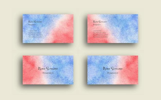 Conjunto de cartão de visita com aquarela abstrata