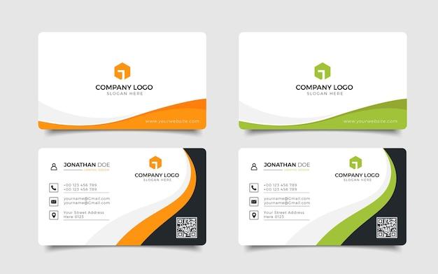 Conjunto de cartão de visita empresarial moderno criativo