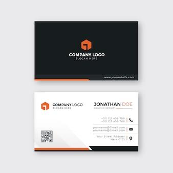 Conjunto de cartão de visita empresarial moderno criativo Vetor Premium