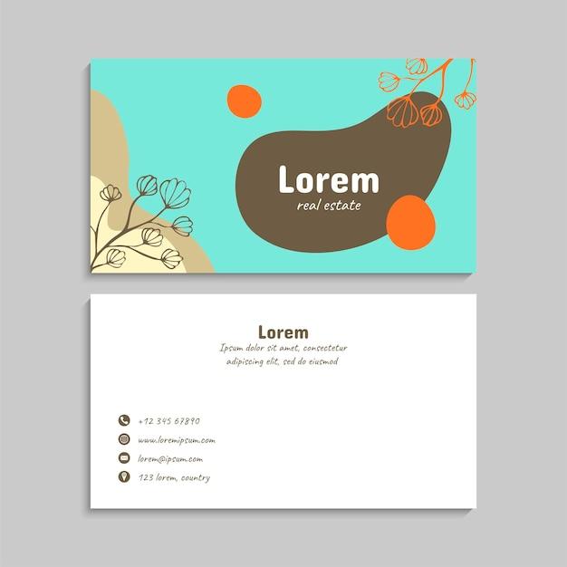 Conjunto de cartão de visita. ilustração vetorial. eps10