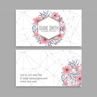 Conjunto de cartão de visita. ilustração vetorial