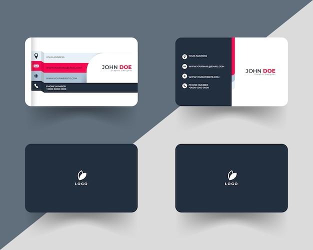 Conjunto de cartão de visita simples e mínimo