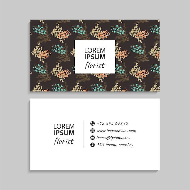 Conjunto de cartão de visita.