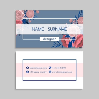 Conjunto de cartão de visita