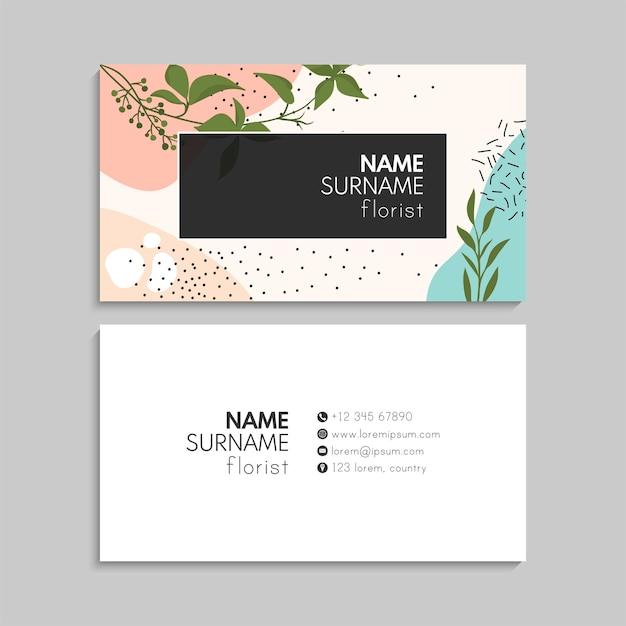 Conjunto de cartão floral.