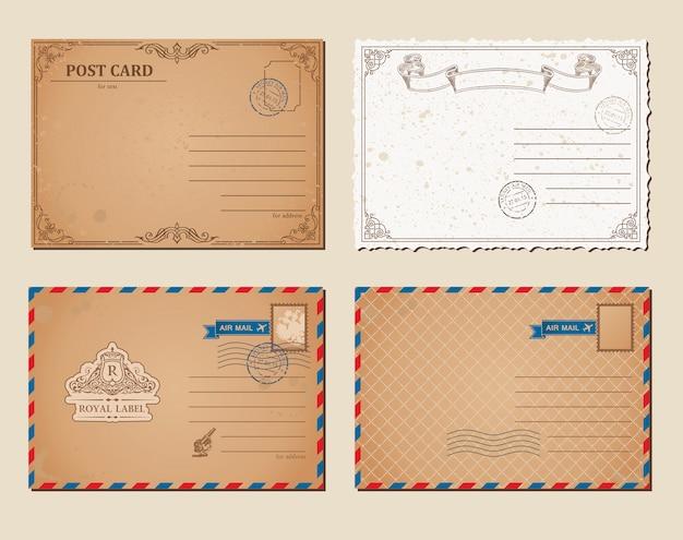 Conjunto de cartão postal vintage