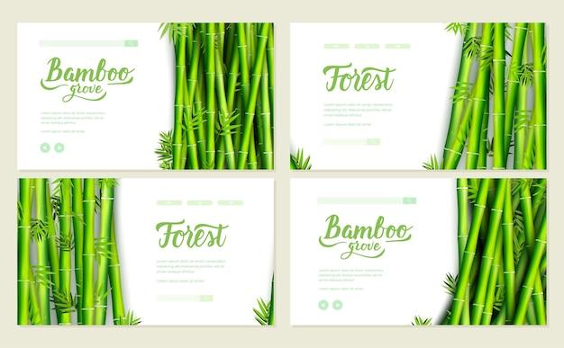 Conjunto de cartas de bambu