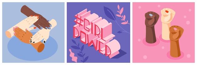 Conjunto de cartas de poder feminino