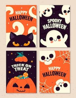 Conjunto de cartas do festival de halloween
