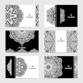 Conjunto de cartas mandala