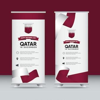 Conjunto de cartaz do qatar