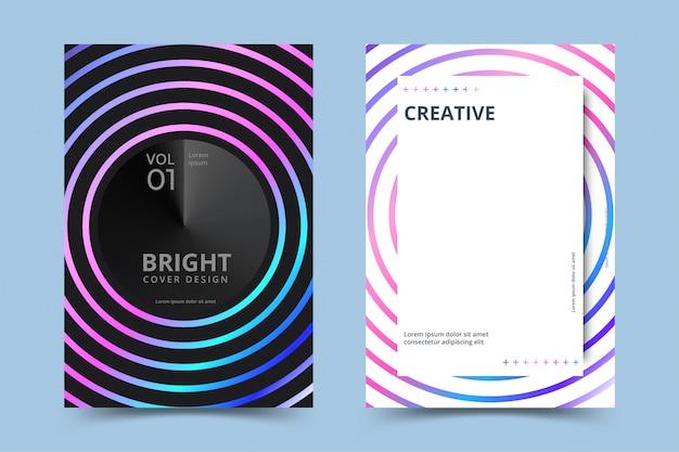 Conjunto de cartaz holográfico. fundos abstratos. cartaz holográfico futurista com malha de gradiente. ilustração