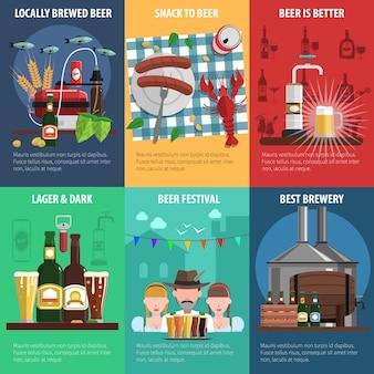 Conjunto de cartazes de cerveja
