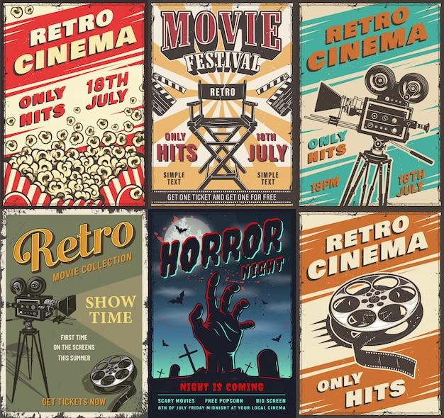 Conjunto de cartazes de cinema