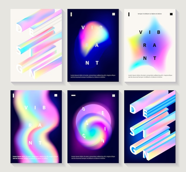 Conjunto de cartazes de design criativo
