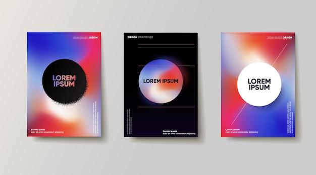 Conjunto de cartazes de formas abstratas. ilustração vetorial
