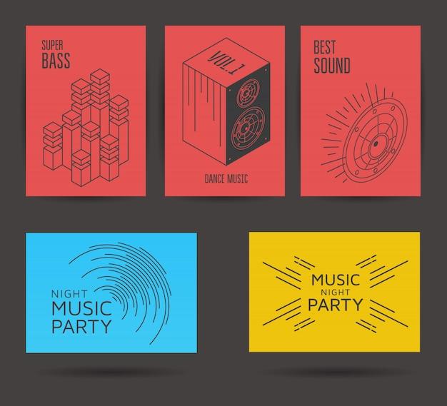 Conjunto de cartazes de música