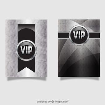 Conjunto de cartões clássicos de prata vip