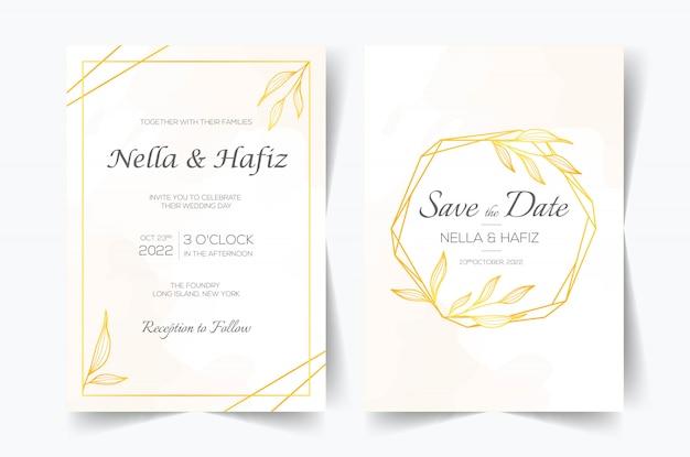 Conjunto de cartões com decoração floral de arte em linha