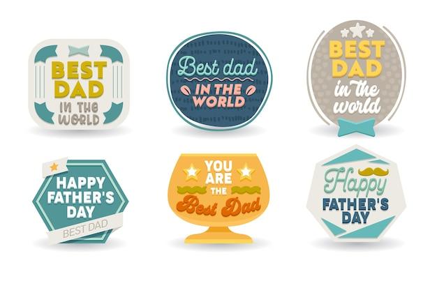 Conjunto de cartões comemorativos de feliz dia dos pais