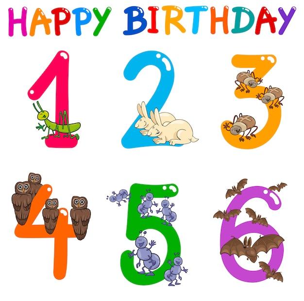 Conjunto de cartões de aniversário