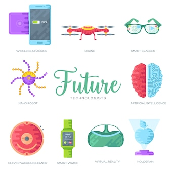 Conjunto de cartões de brochura de tecnologia. modelo de automação. layout de tecnologia de inteligência artificial.