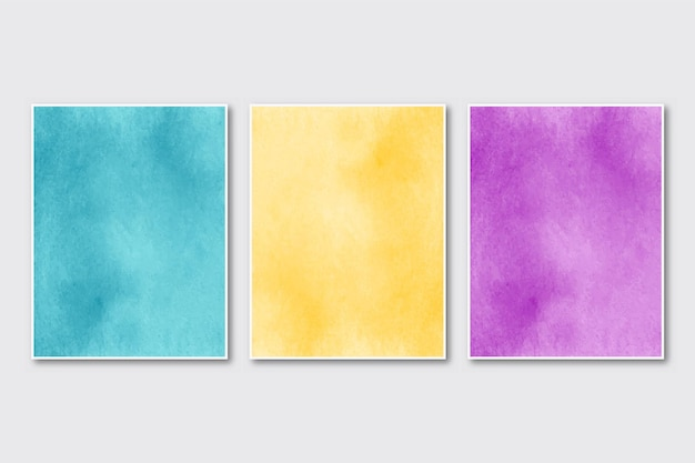 Conjunto de cartões de convite de casamento minimalistas e criativos pintados à mão com aquarela abstrata