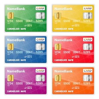 Conjunto de cartões de crédito
