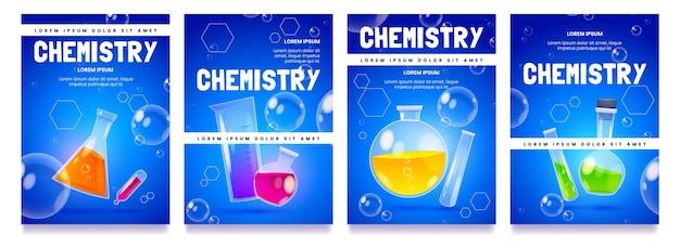 Conjunto de cartões de laboratório de química