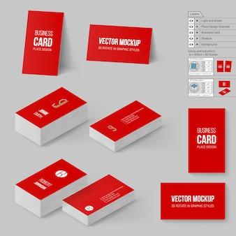 Conjunto de cartões de marca