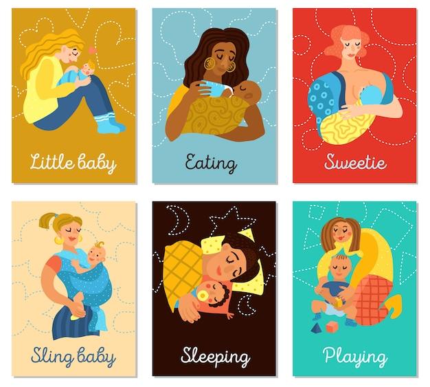 Conjunto de cartões de maternidade