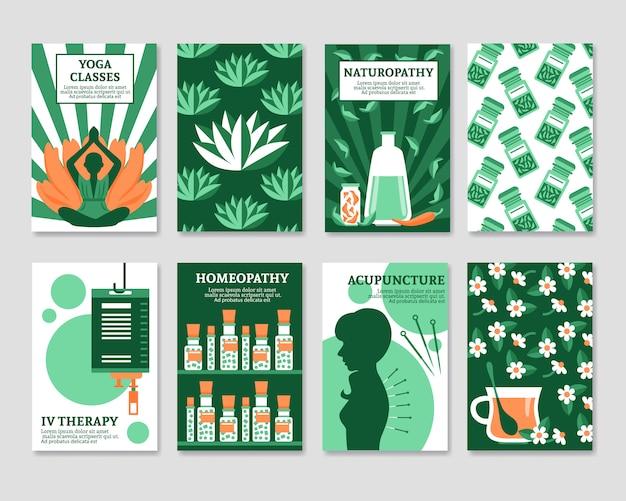 Conjunto de cartões de medicina alternativa