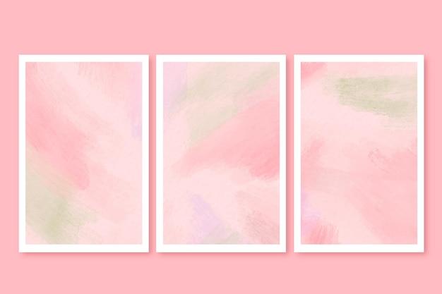 Conjunto de cartões em aquarela