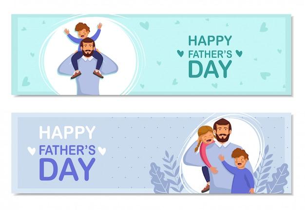 Conjunto de cartões feliz dia dos pais.