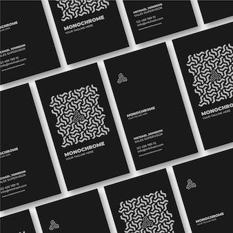 Conjunto de cartões monocromáticos
