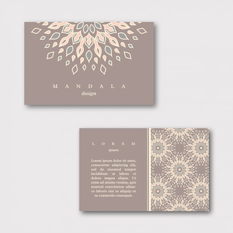 Conjunto de cartões ornamentais com mandala