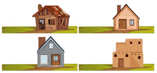 Conjunto de casa isolada