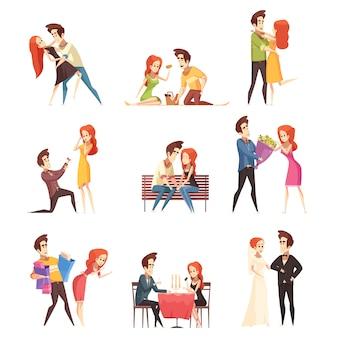 Conjunto de casal apaixonado