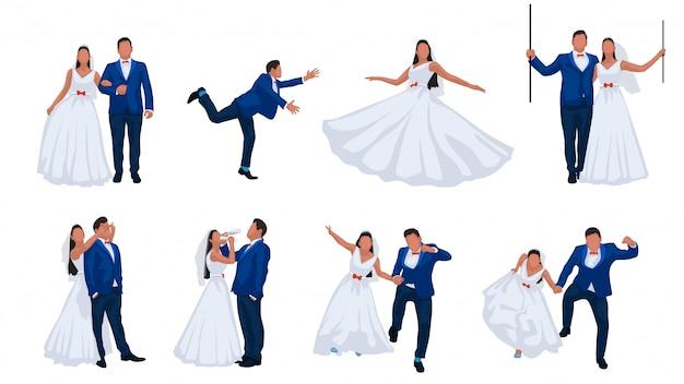 Conjunto de casal de noivos