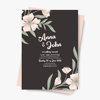 Conjunto de casamento floral