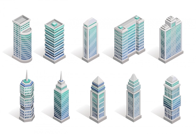 Conjunto de casas da cidade