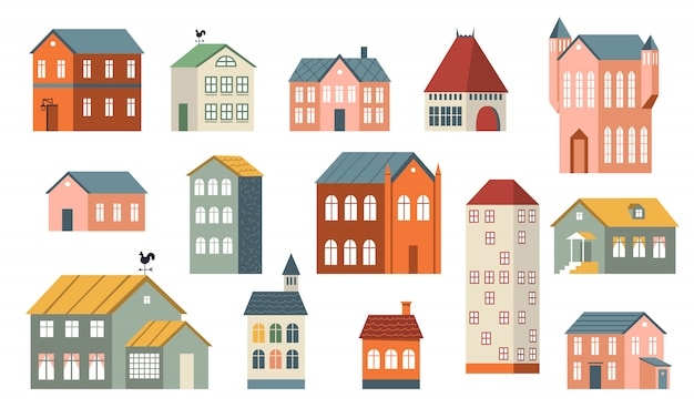 Conjunto de casas de família