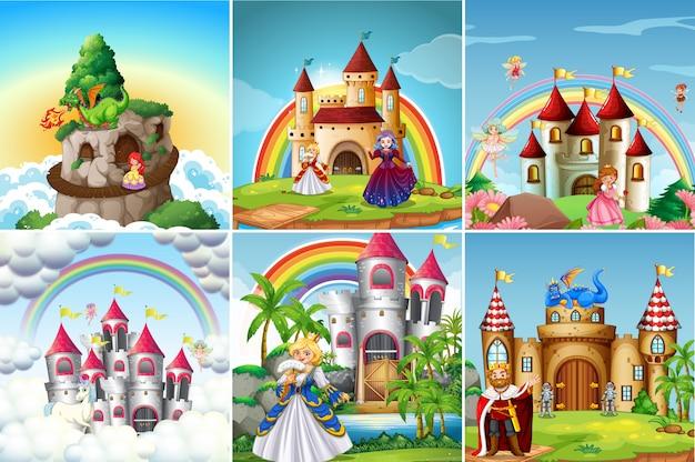 Conjunto de castelo medieval