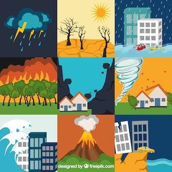 Conjunto de catástrofes naturais